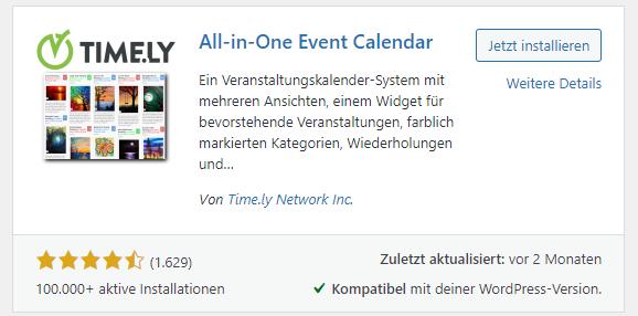 All-in-one Event Calendar plugin