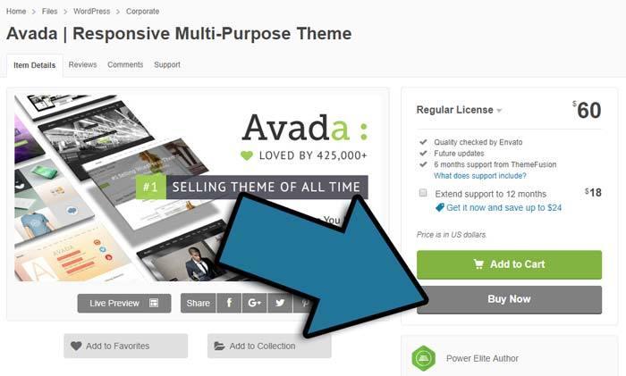 Avada Theme kaufen