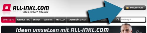 Domain erstellen All-Inkl login
