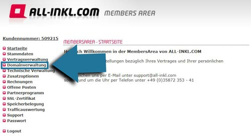 Domain erstellen Membersarea bild domainverwaltung