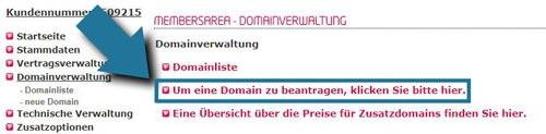 Domain verwaltung und domain beantragen