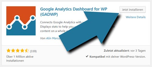 Google analytics für wordpress installieren