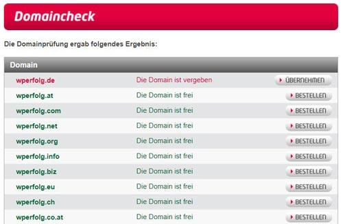URL prüfen und Domain reservieren bei all-inkl