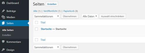 WordPress Anleitung Seiten erstellen