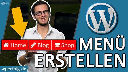 WordPress Menue erstellen Titelbild