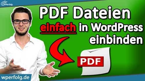 WordPress PDF einfügen titelbild