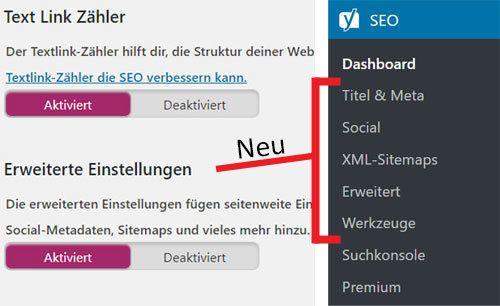 WordPress SEO Erweiterte einstellungen bild
