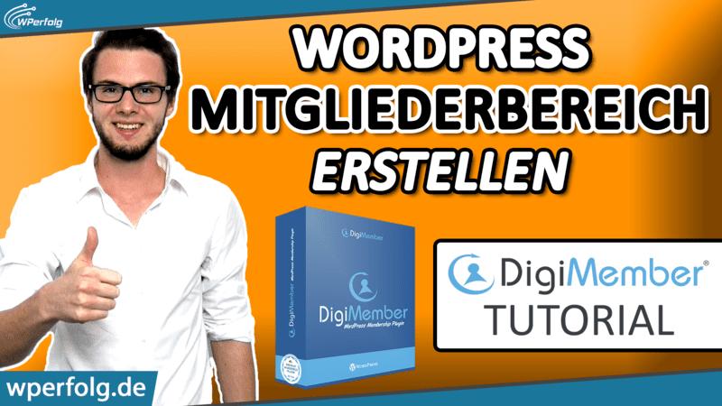 WordPress digimember Mitgliederbereich erstellen