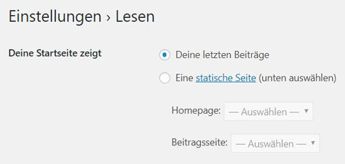 WordPress einfuehrung