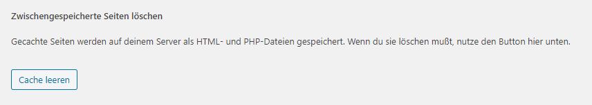 wordpress cache leeren wp super cache
