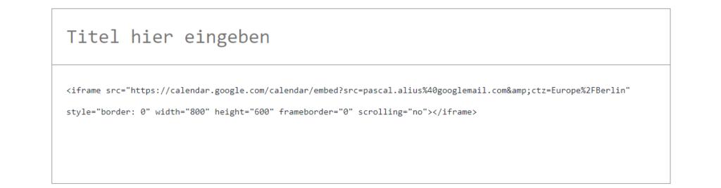 code einfügen wordpress