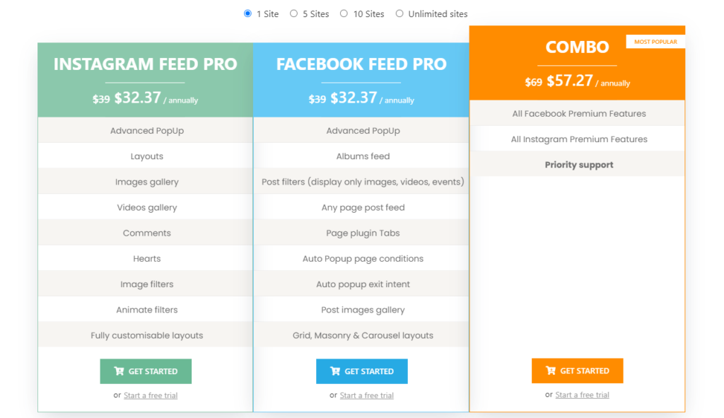easy social feed preise
