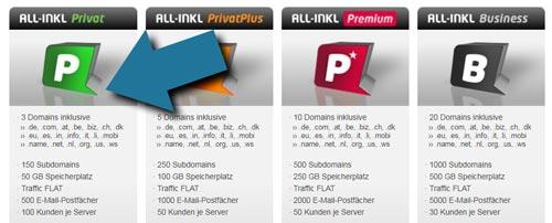 eigene domain erstellen all inkl vier webhosting pakete