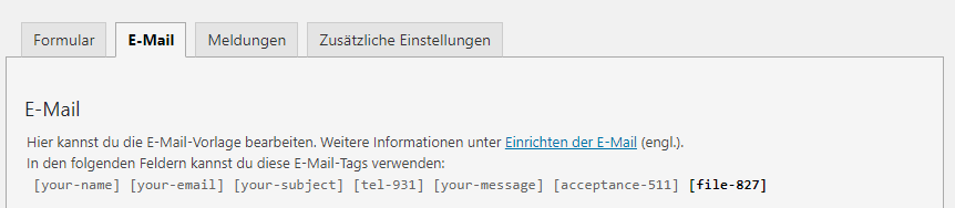 reiter email tags bei wp plugin contact form 7