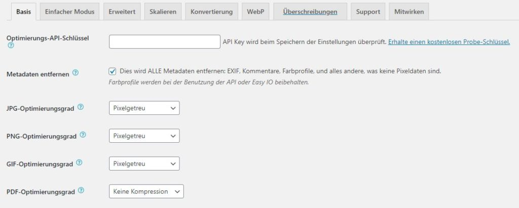 ewww-image-optimizer-plugin-einstellung