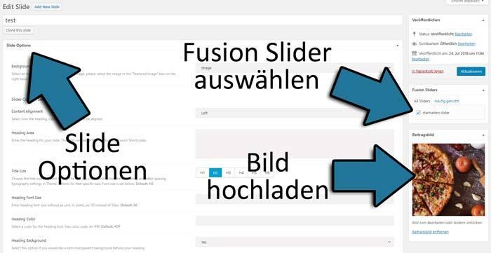 fusion slide erstellen bild