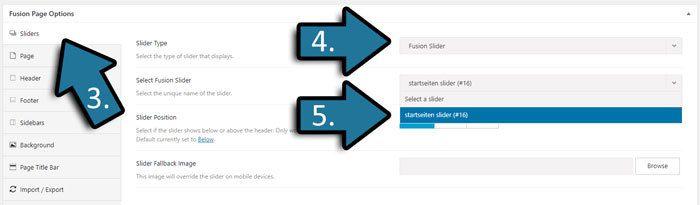 fusion slider auf website hinzufuegen