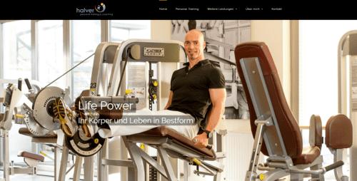 halver-personal-training wordpress website beispiel