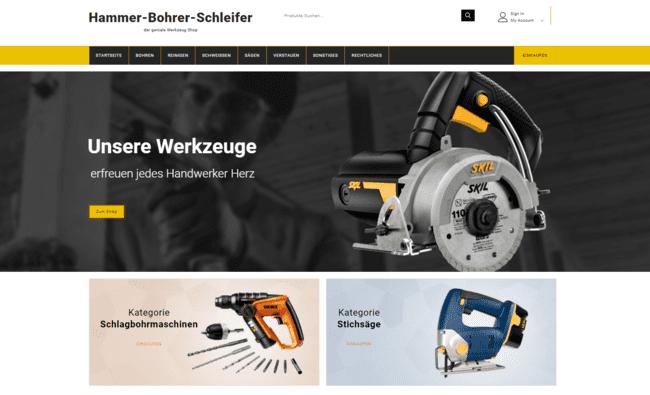 hammer bohrer schleifer wordpress website