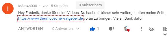 youtube feedback seo anleitung