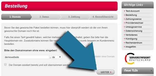 internet domain kaufen schritt 1