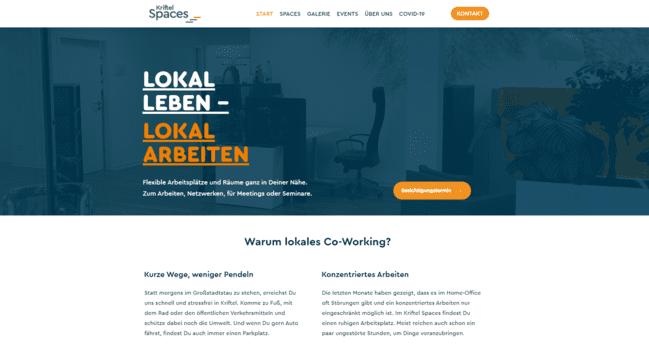 kriftel spaces website formel wordpress beispielseite