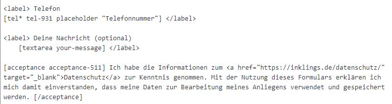 textfeld wp plugin contact form 7
