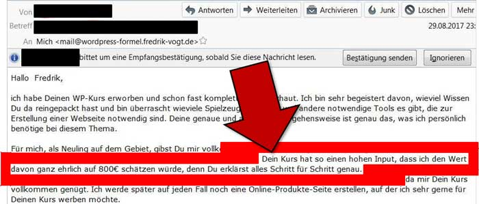 wordpress kurs anleitung feedback lisa