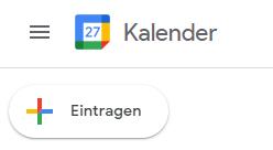 menü google kalender