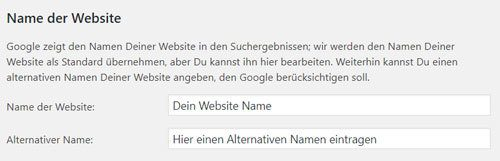 name der website festlegen yoast