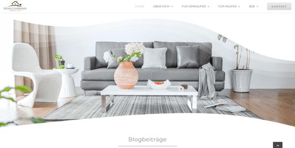 nina-lehmann-immobilien-wordpress website