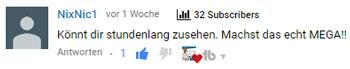 youtube kommentar feedback nixnic1