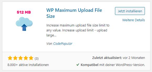 plugin wp maximum upload file size