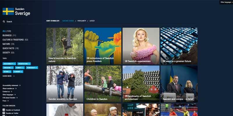 schweden-wordpress-website