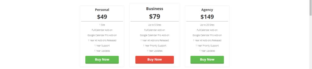 simple calendar price