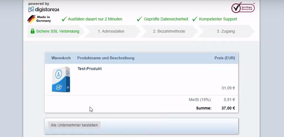 test produkt bestellen