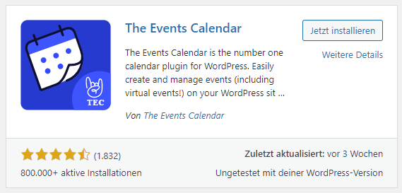 the events manager plugin