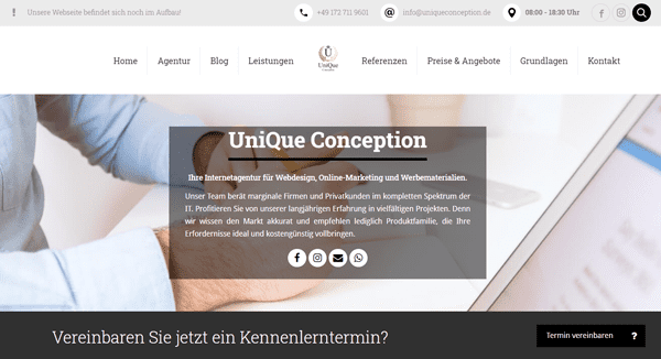 unique-conception website formel