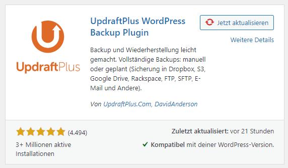 updraft plus plugin