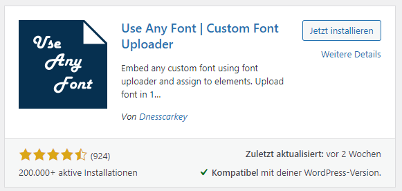 use any font preise