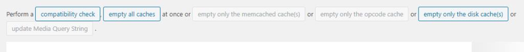 w3 total cache cache löschen