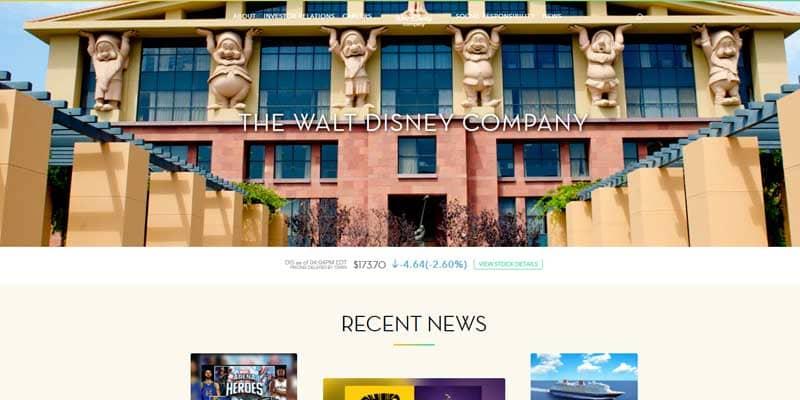 walt-disney-webseite-ist-mit-wordpress-erstellt