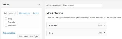 website erstellen anleitung menue erstellen schritt 2