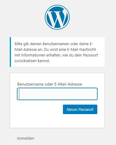 wordpress-admin-login-passwort-vergessen-neu