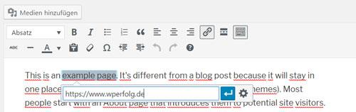 wordpress anleitung link erstellen