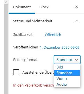 wordpress-beitrag-beitragsformat