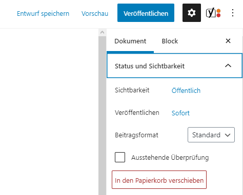 wordpress-beitrag-entfernen-gutenberg