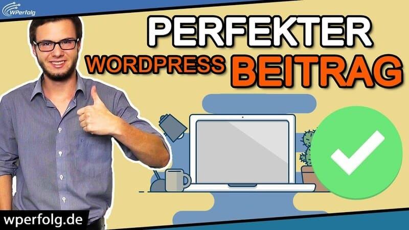wordpress beitrag erstellen artikel bearbeiten