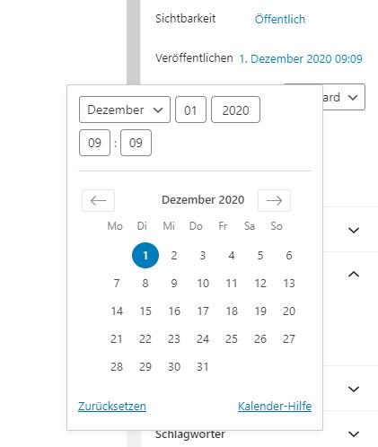 wordpress-beitrag-planung-gutenberg
