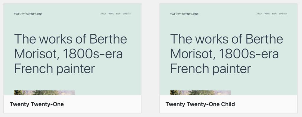 wordpress-child-theme-aktivieren twenty twenty-one